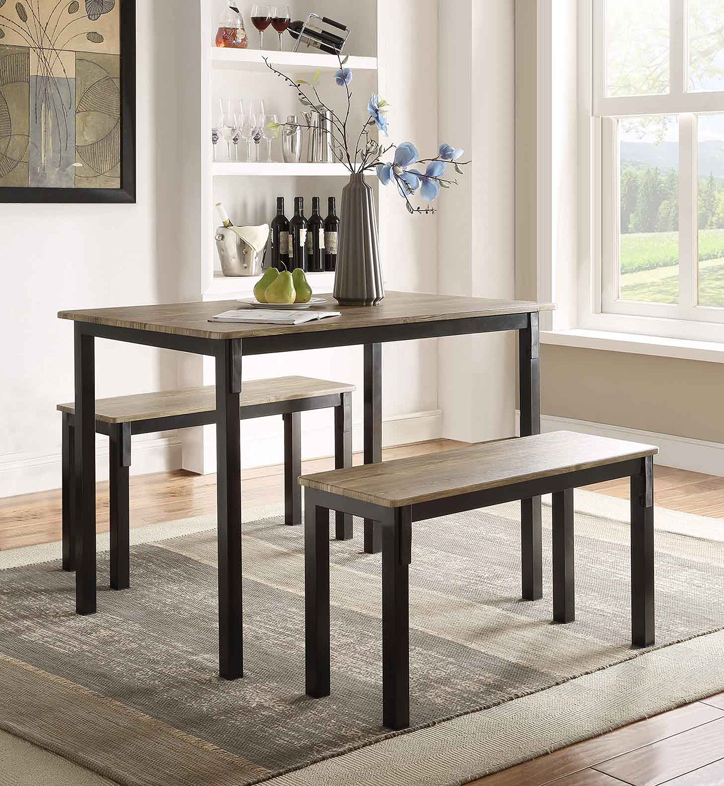Boltzero Dining Table with 2 Benches -  - kitchen-dining-room-furniture, kitchen-dining-room, kitchen-dining-room-tables - A104b jjRLL -