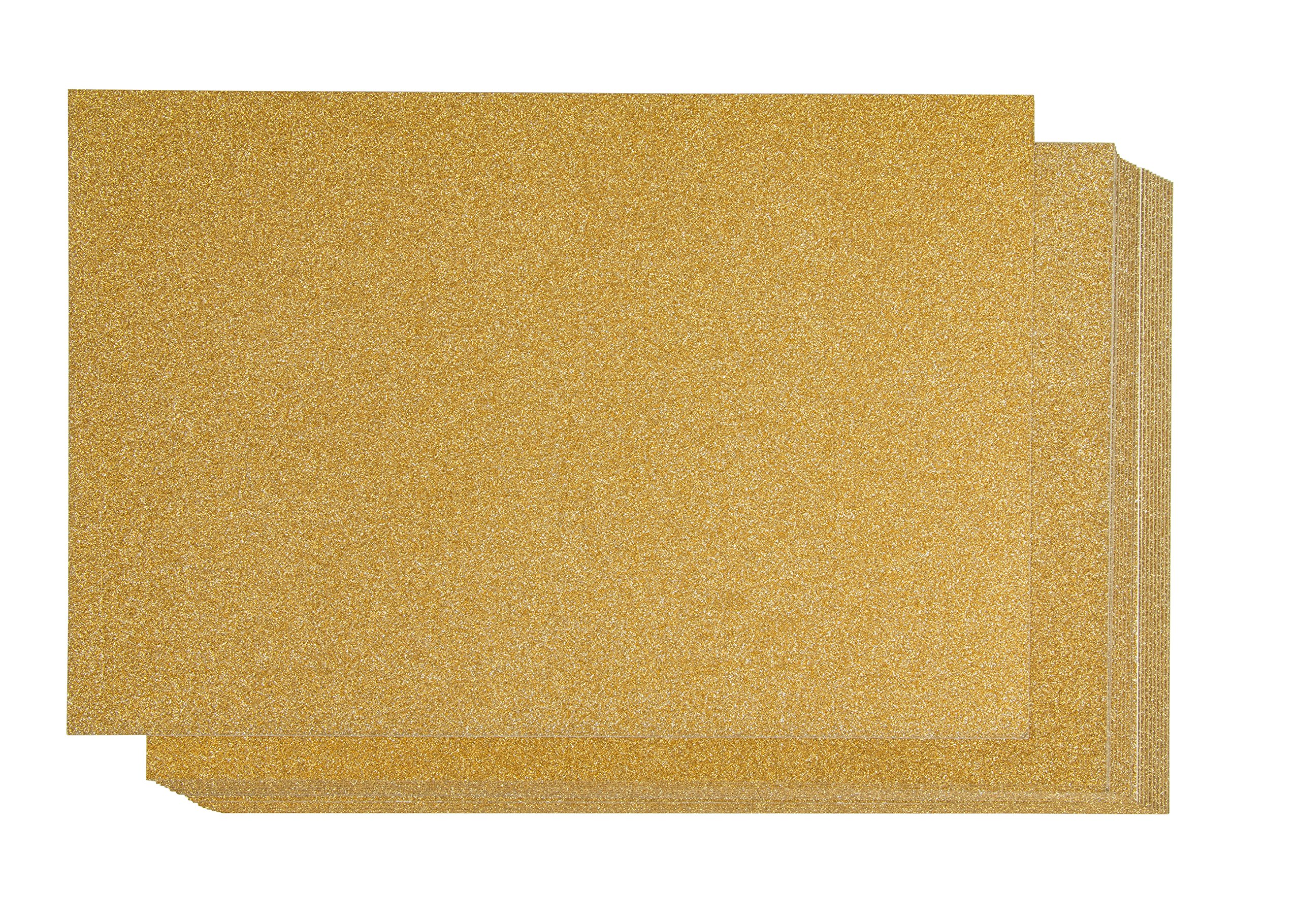 Glitter Cardstock Paper - 24-Pack Gold Glitter Paper for DIY Craft Projects, Birthday Party Decorations, Scrapbook, Double-Sided, 250GSM, 8 x 12 inches