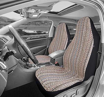 SUV Van Blue Airbag Compatible West Coast Auto Baja Blanket Bucket Seat Cover for Car 2PCS Truck