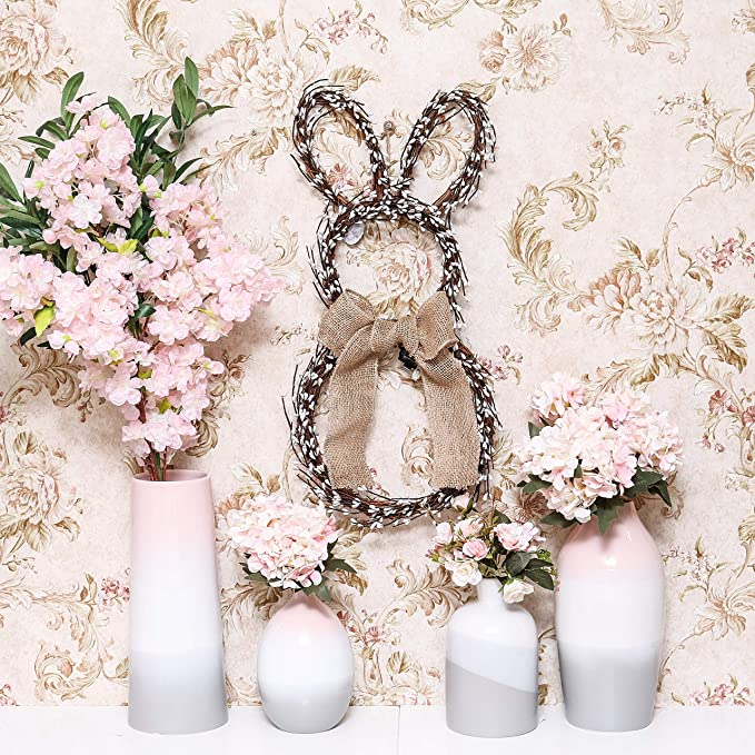 TL113-VALENT Christmas Concepts® 9Mx40cm Baby Pink Valentines Fabric Door Bow