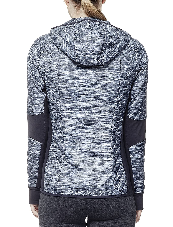 1f84e547143 Icebreaker Women's Helix Long Sleeve Zip Fraser Peaks Mid Layers Hood, Grey  Hthr/Stealth/Snow, X-Small: Amazon.co.uk: Clothing