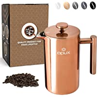 OPUX Premium Stainless Steel French Press, Double Wall Coffee Maker   Thermal Insulated Press Pot   34 fl oz/1 Liter…