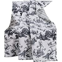Greenland Home Classic Toile Quilted Throw