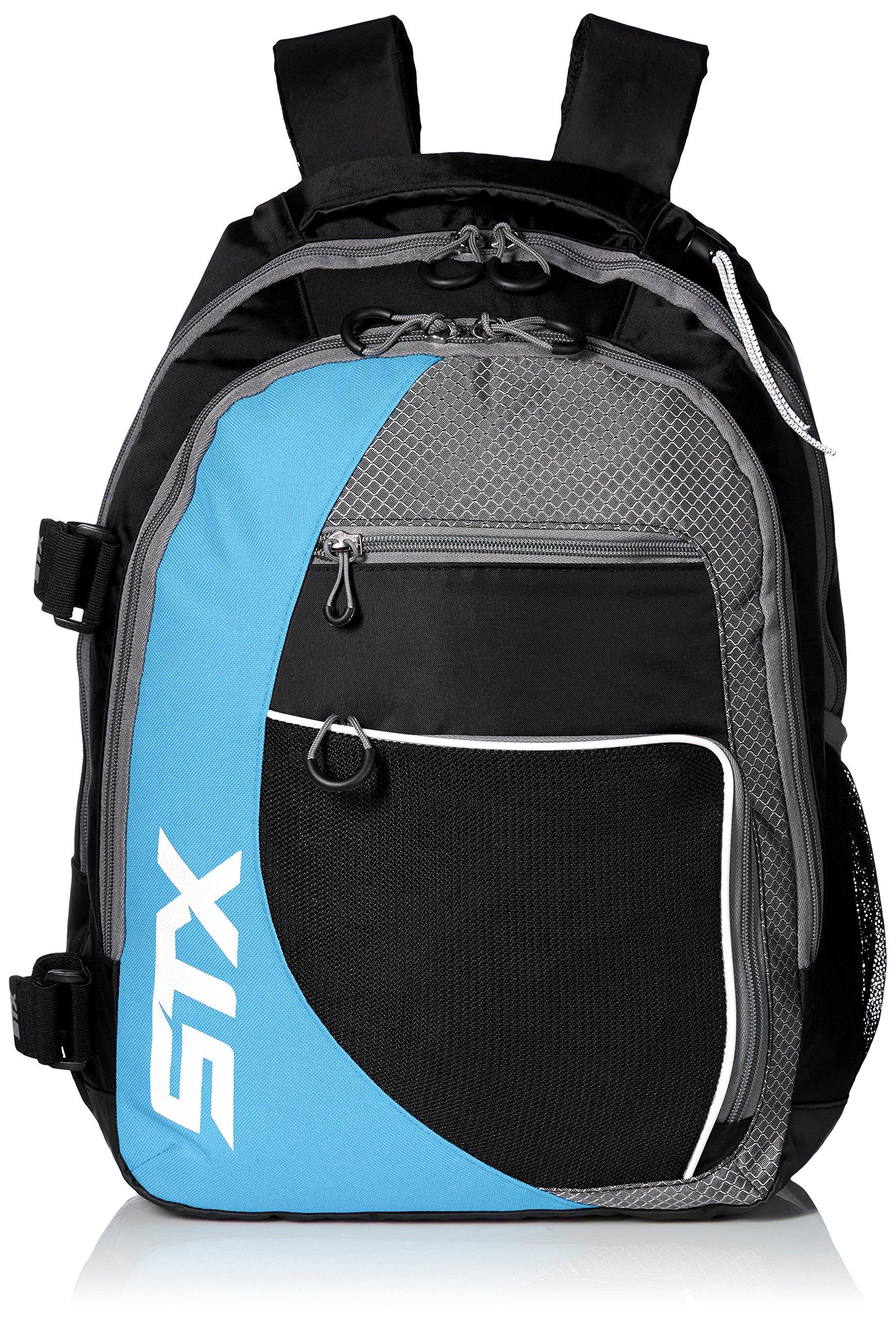 STX Lacrosse Sidewinder Lacrosse Backpack, Black/Columbia by STX (Image #1)
