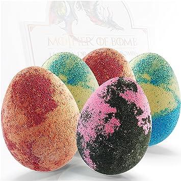 Bath Bombs Gift Set   5 Dragon Egg Bath Fizzies   255g Jumbo Bathbombs   UK