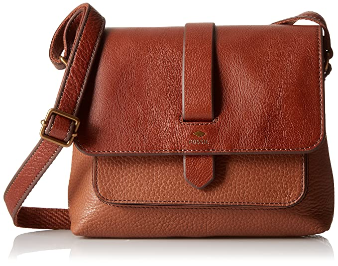 0977bc494 Fossil Kinley Small Crossbody Bag, Brown: Fossil: Amazon.ca ...