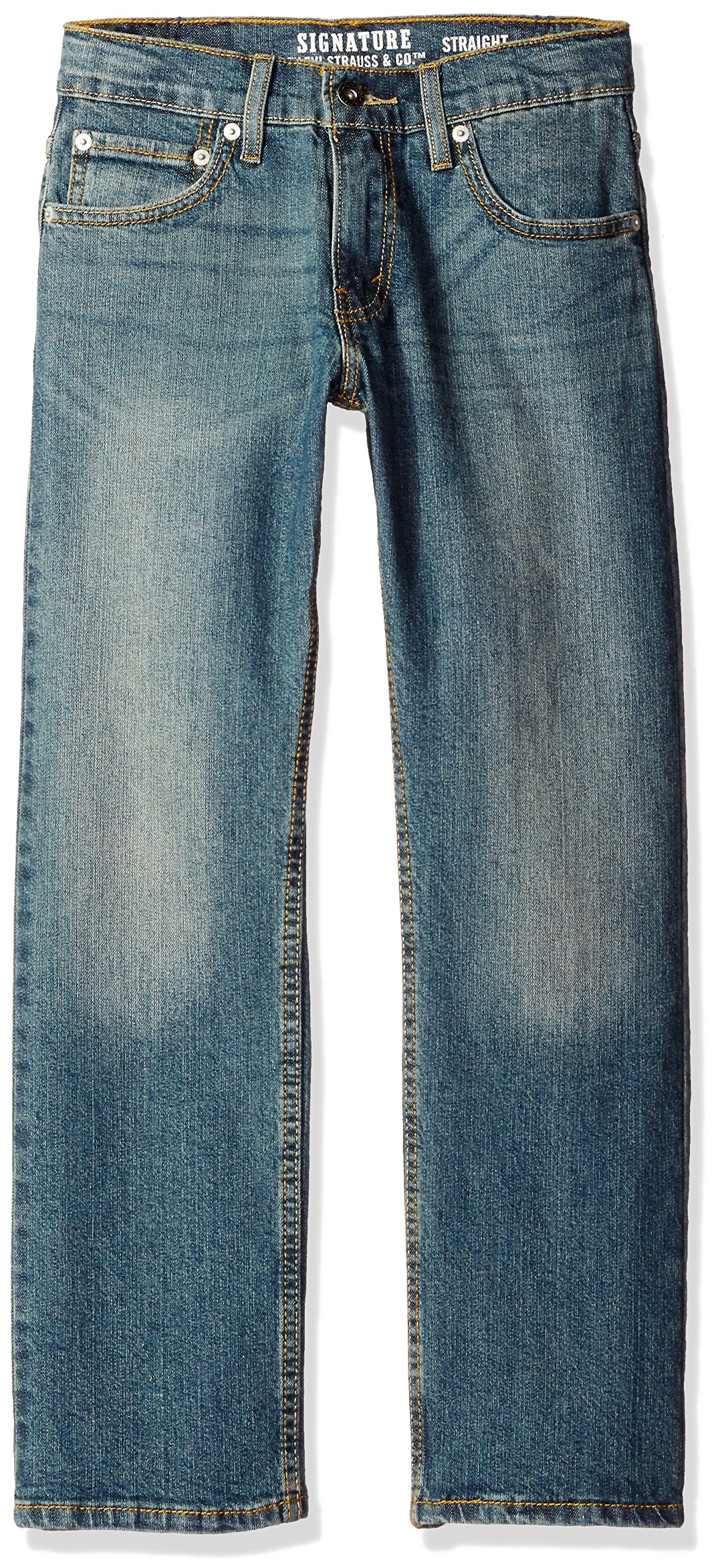 Signature by Levi Strauss & Co. Gold Label Big Boys' Straight Fit Jeans, Indy, 12
