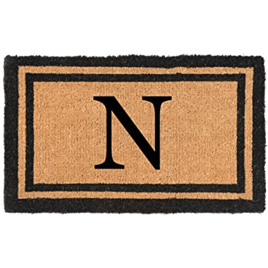 Nance Industries YourOwn Monogrammed Welcome Mat (Insert Letter Variation), 22  x 36