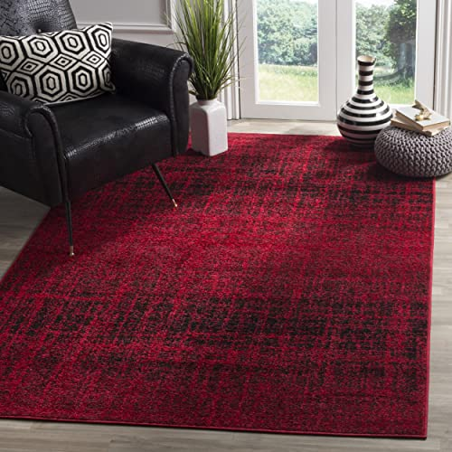 Safavieh Adirondack Collection ADR116F Red and Black Modern Abstract Area Rug 8' x 10'