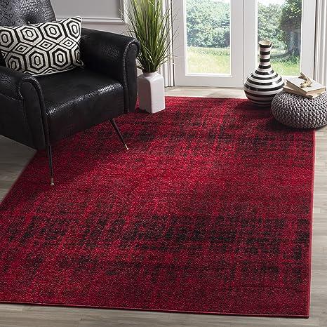 Amazon Com Safavieh Adirondack Collection Adr116f Red And Black Modern Abstract Area Rug 3 X 5 Furniture Decor