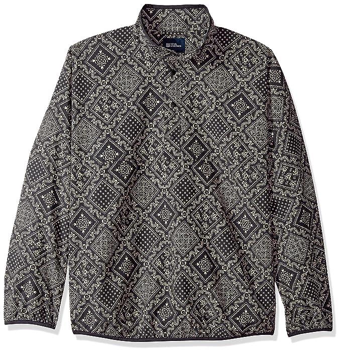 18362c10d Reyn Spooner Men's Nylon Pullover Jacket Shirt, Diagonal Lahaina -  Obsidian, XL: Amazon.ca: Clothing & Accessories