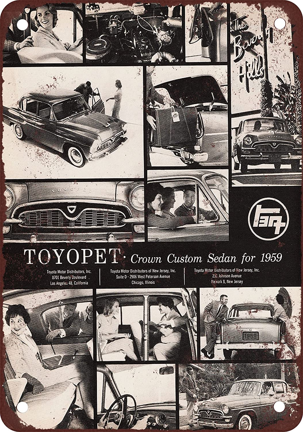 Amazon Com X Metal Sign Toyota Toyopet Crown Sedan