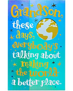 Amazon happy birthday grandson birthday greetings card american greetings great guy birthday card for grandson with foil bookmarktalkfo Gallery