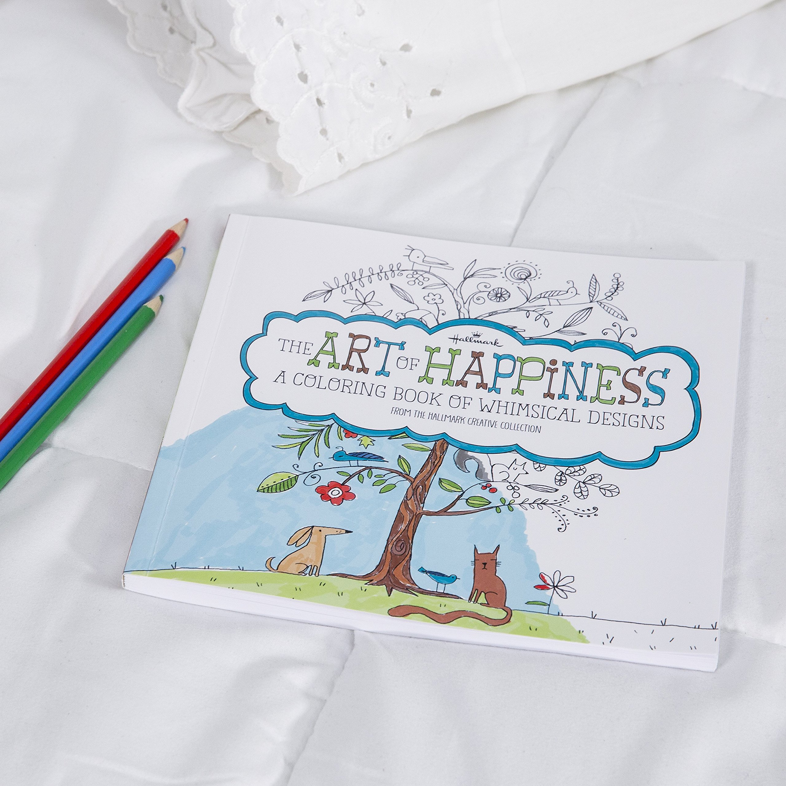Whimsical designs coloring book - The Art Of Happiness A Coloring Book Of Whimsical Designs For Adults From The Hallmark Creative Collection 45 High Quality Sheets To Color Amazon Com