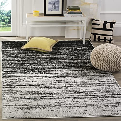 Safavieh Adirondack Collection ADR113A Silver and Black Modern Abstract Area Rug 6 x 9
