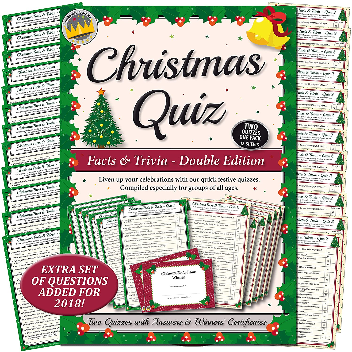 CHRISTMAS QUIZ GAMES: FACTS & TRIVIA PARTY GAME for Family, Office & Xmas parties eDigital Creations Ltd CQFT