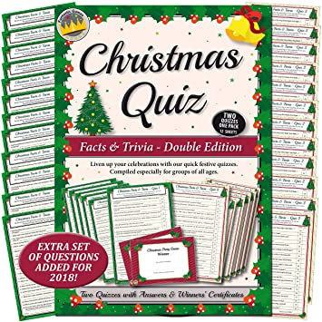 Christmas Trivia With Answers.Christmas Quiz Games Facts Trivia Party Game For Family Office Xmas Parties