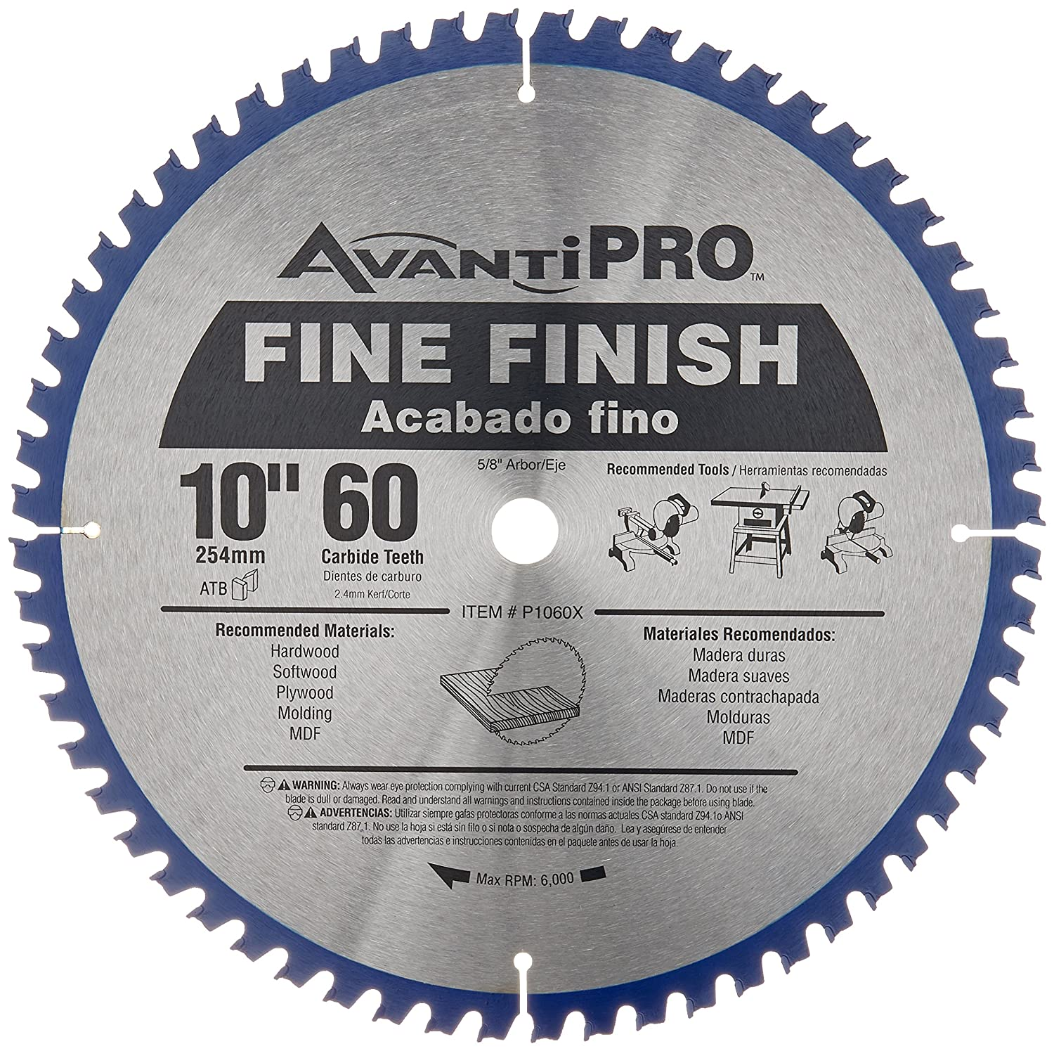 Freud p106060pp 10 x 60 tooth fine finish saw blade amazon greentooth Image collections
