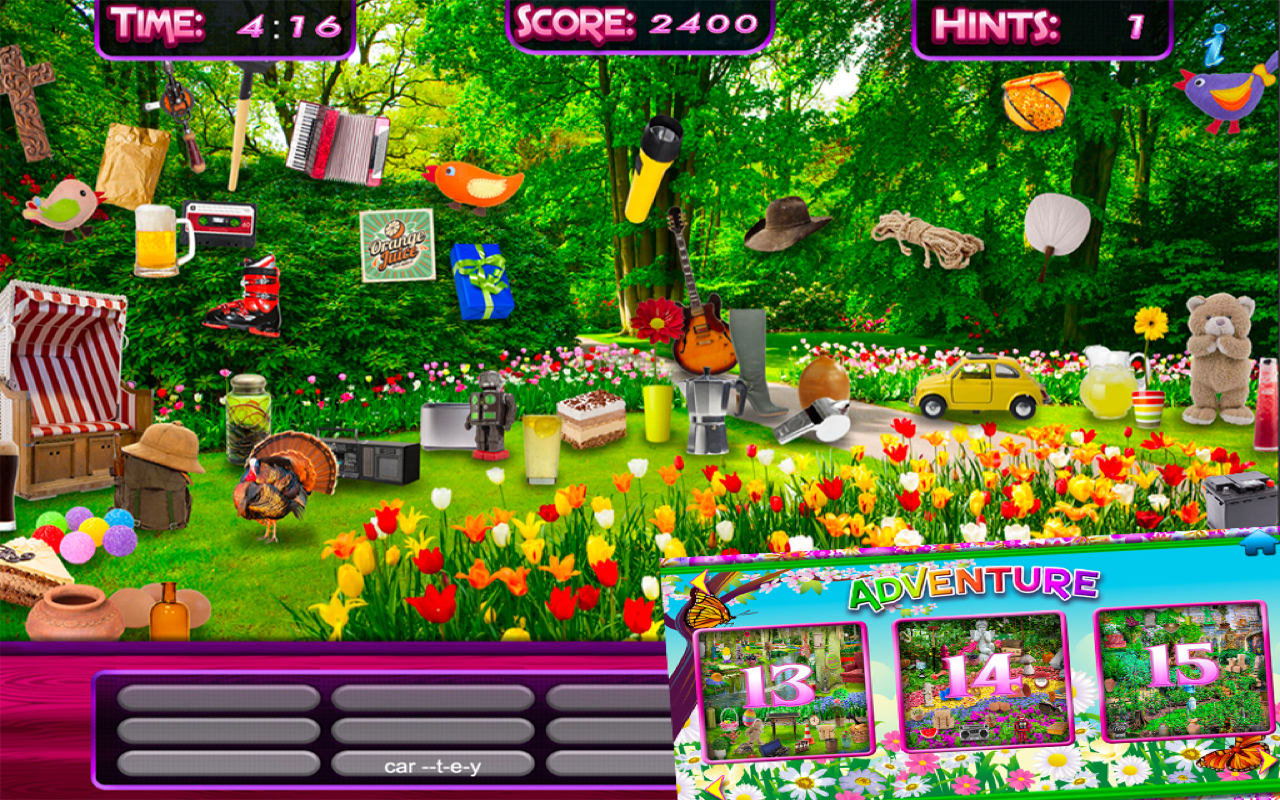 Amazon.com: Hidden Object U2013 Spring Gardens U0026 Objects Time Easter Puzzle  Differences Search Game: Appstore For Android