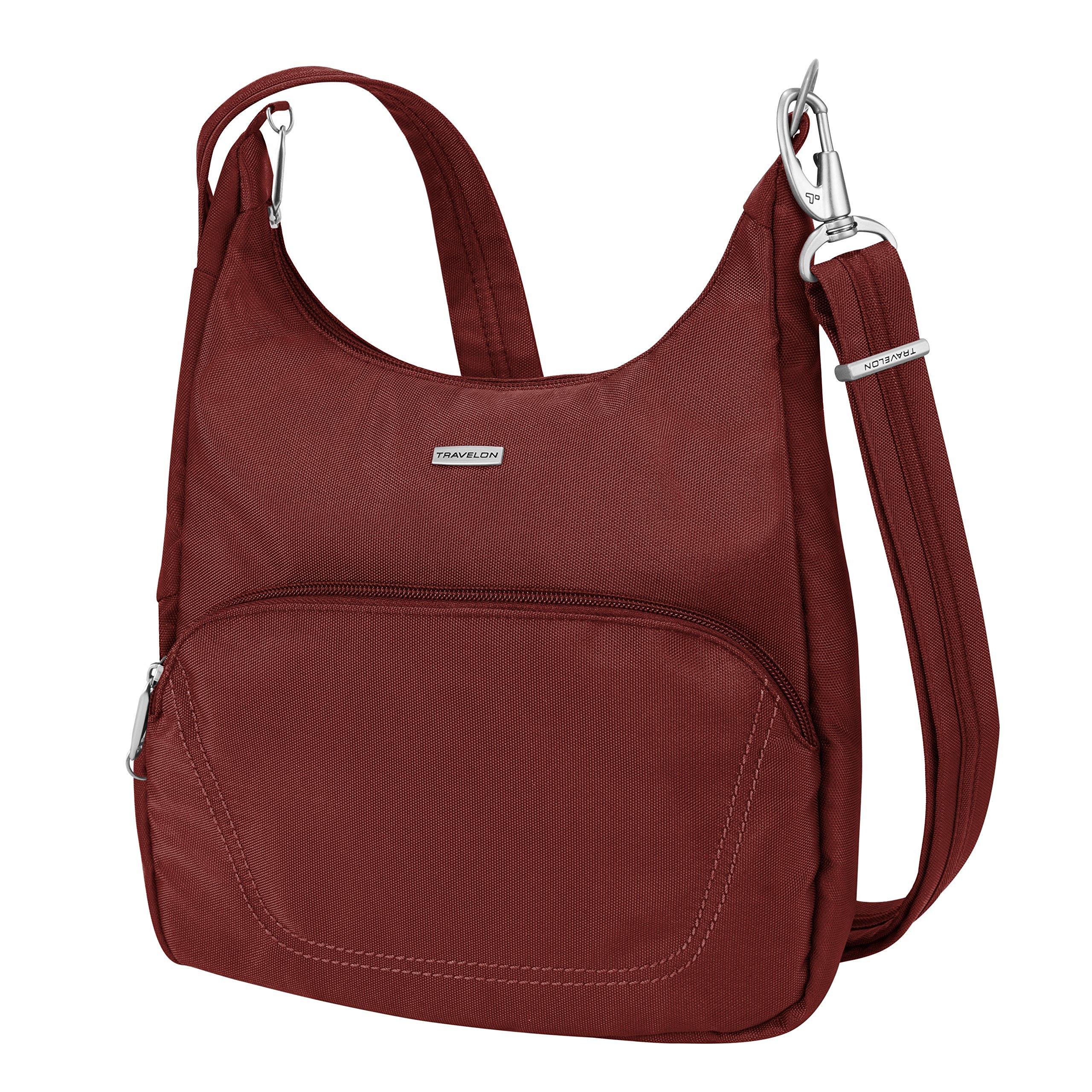 Travelon Anti-Theft Classic Essential Messenger Bag, Wine
