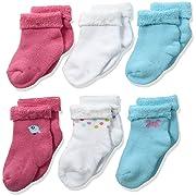Gerber Baby Girls' 6-Pair Sock, Little Birdie, 3-6 Months