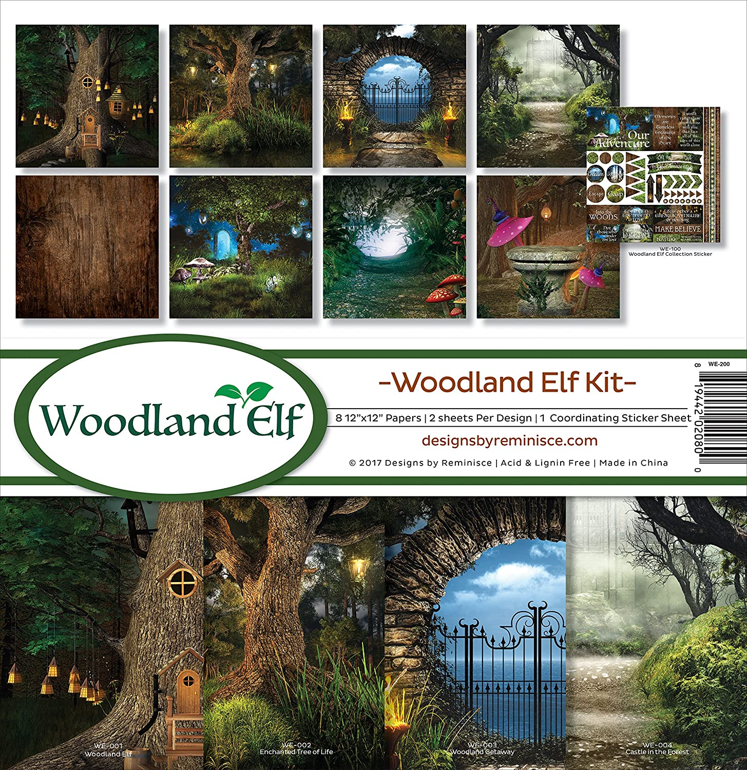 Reminisce Collection Kit ~ Woodland Elf ~ 12 x 12 Paper Crafting Kit
