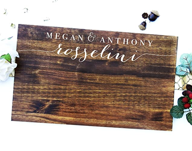 Amazon Com Wooden Guests Sign Wedding Guest Signing Board A