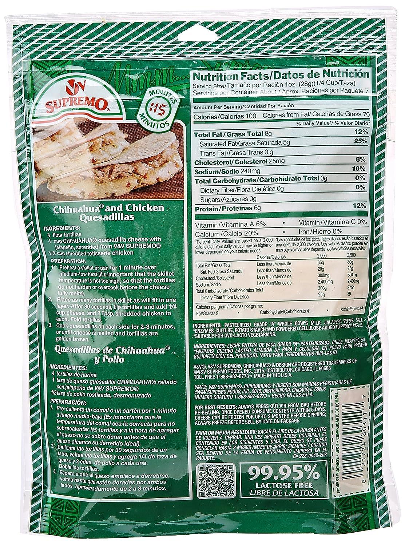 V&V Supremo, Shredded Jalapeno Cheese, 7.06 oz: Amazon.com ...