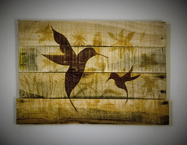 Amazon.com: Hummingbird decor Hummingbird art Hummingbird painting ...