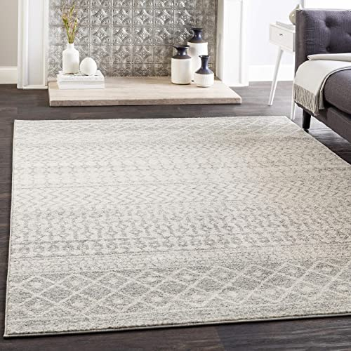 Safavieh Evoke Collection EVK272A Distressed Modern Abstract Navy and Ivory Area Rug 9 x 12
