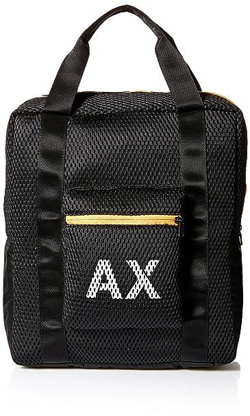 Amazon.com: Armani Exchange esponjoso bolsa de compras de ...
