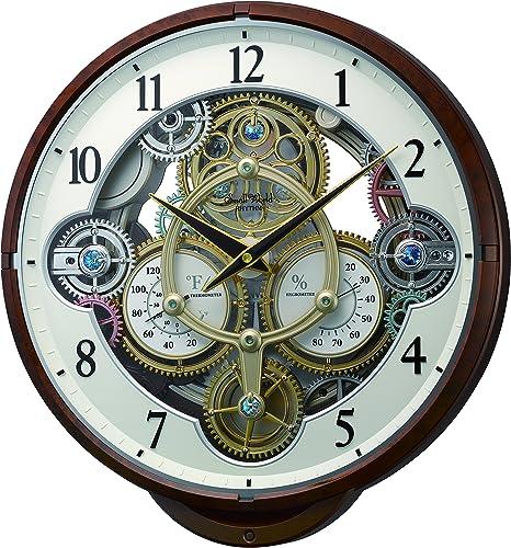 Rhythm Clocks Widget Magic Motion Clock, Woodgrain