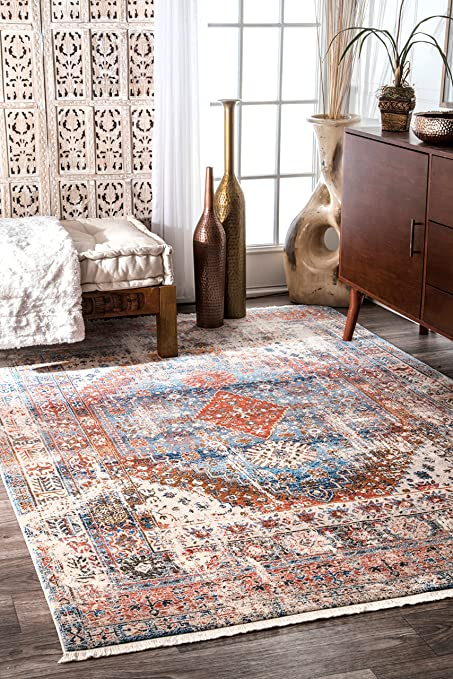 Amazon.com: nuLOOM KHMC07A Farley Medallion Fringe Area Rug, 8' x 10 on green rust rustic kitchen, 10 x 10 kitchen, 8x10 enclosed side, 8x10 one kitchens appliance wall,