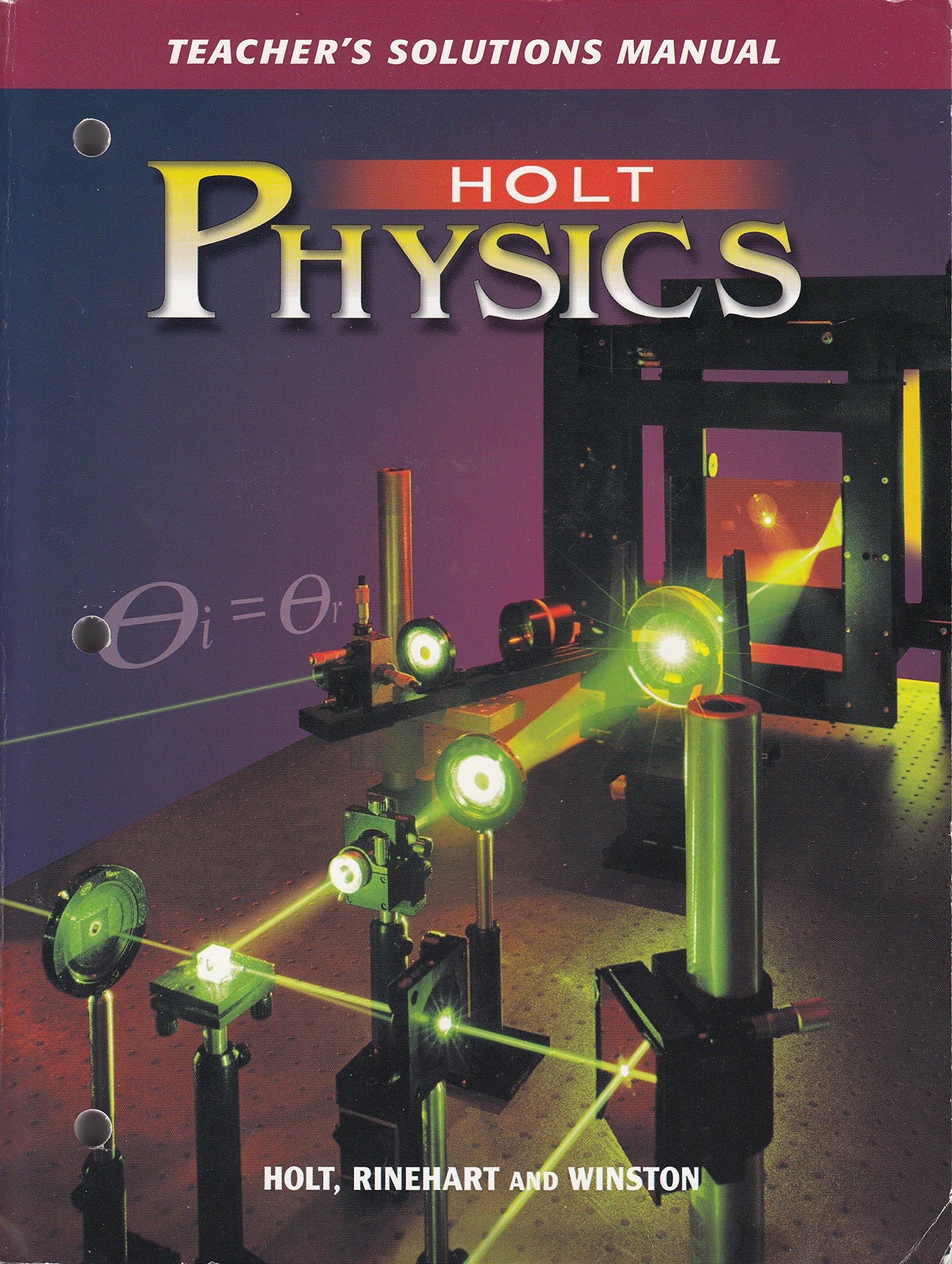Amazon.com: Holt Physics: Teacher's Solution Manual (9780030684593): Books