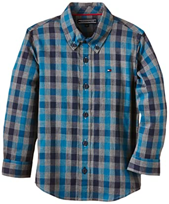2eed3beee680 Tommy Hilfiger Boy's Shirt - Multicoloured - 18-24 Months: Amazon.co.uk:  Clothing