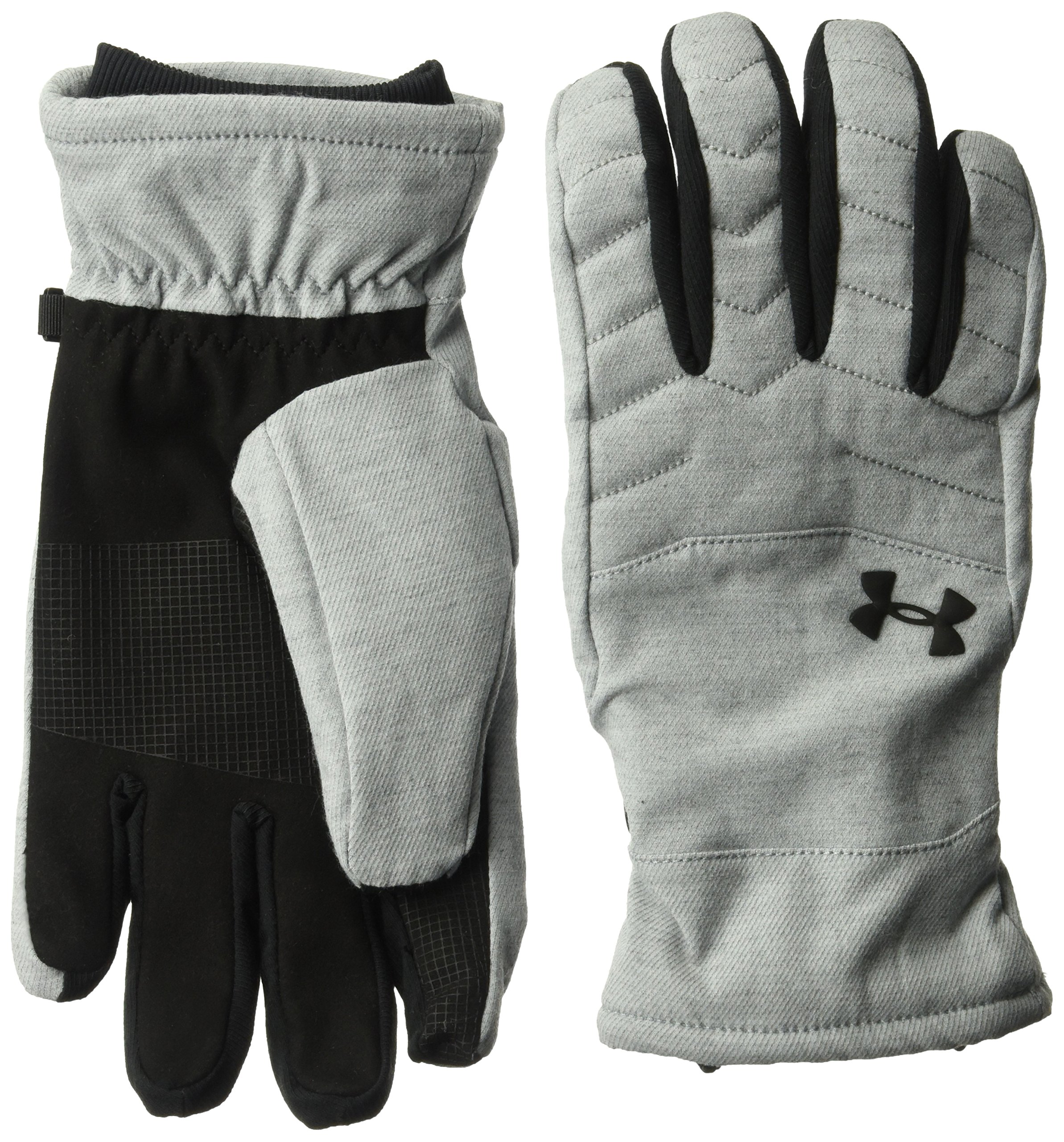 Under Armour Men's Reactor Quilted Gloves, True Gray Heather (025)/Black, Large