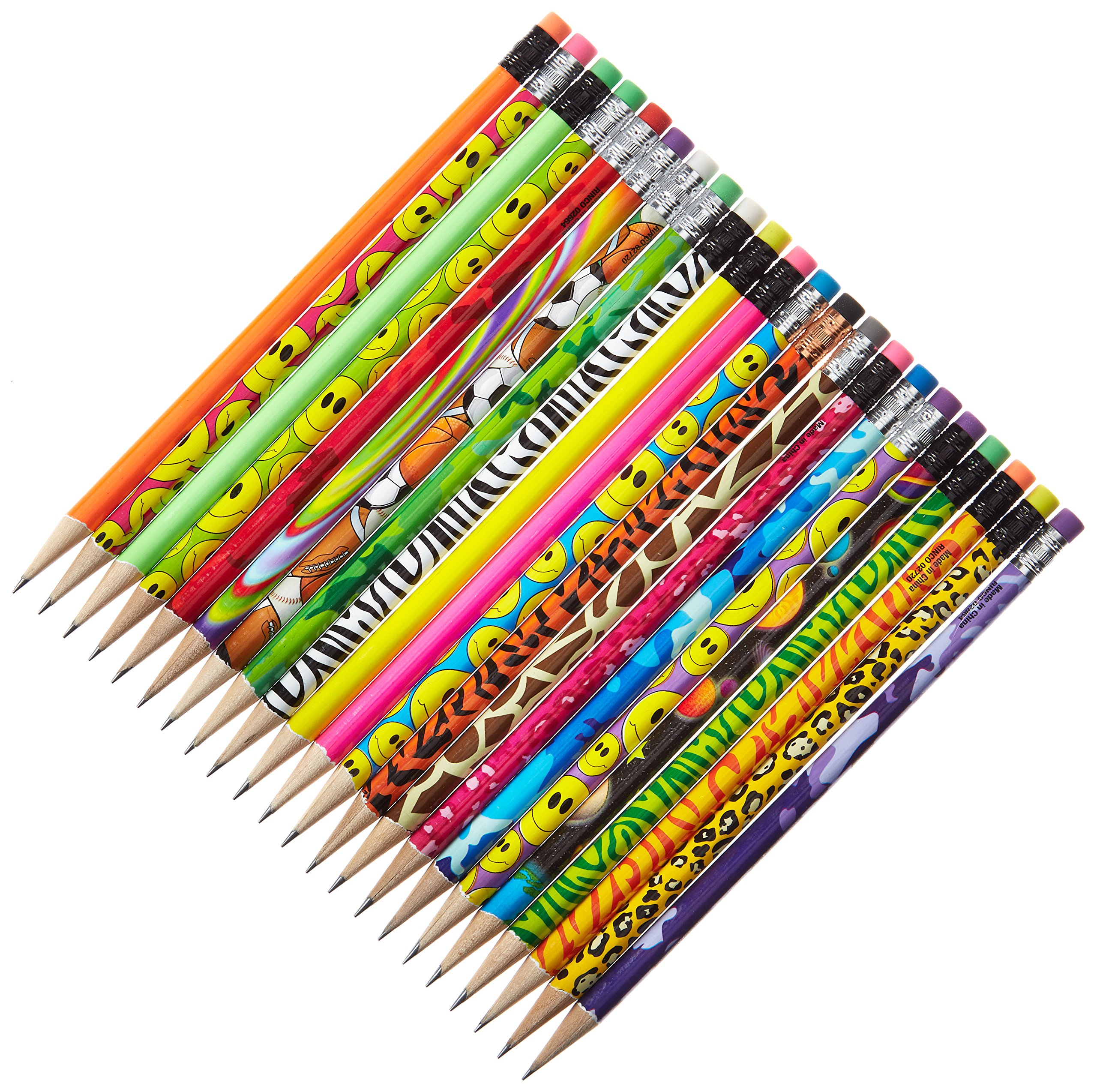 RI Novelty Assorted Colorful Kids Pencils (144 Pack)