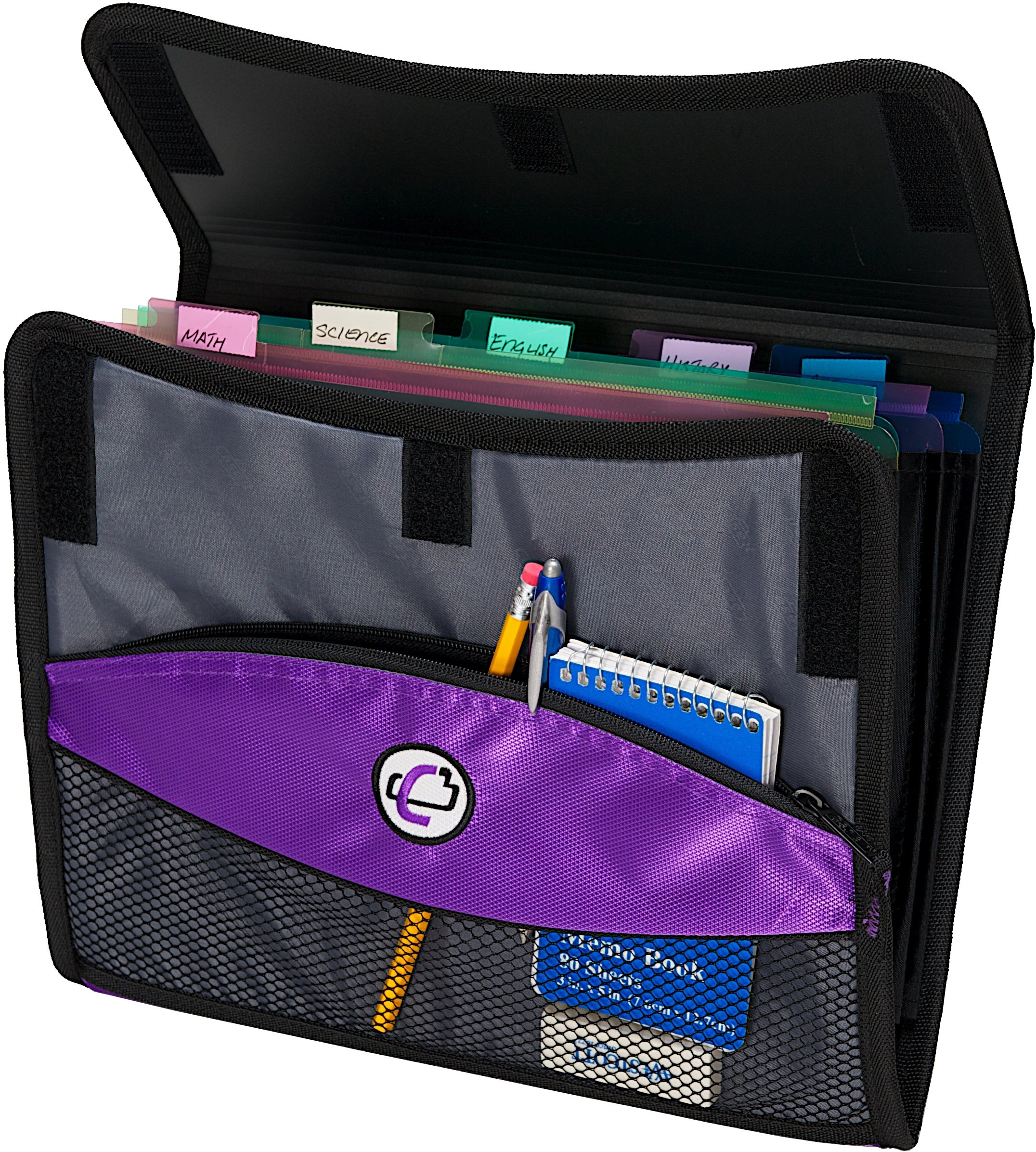 Case-it Sidekick 2-Inch O-Ring Zipper Binder with Removable Tab File, Purple, D-901-PUR by Case-It (Image #5)