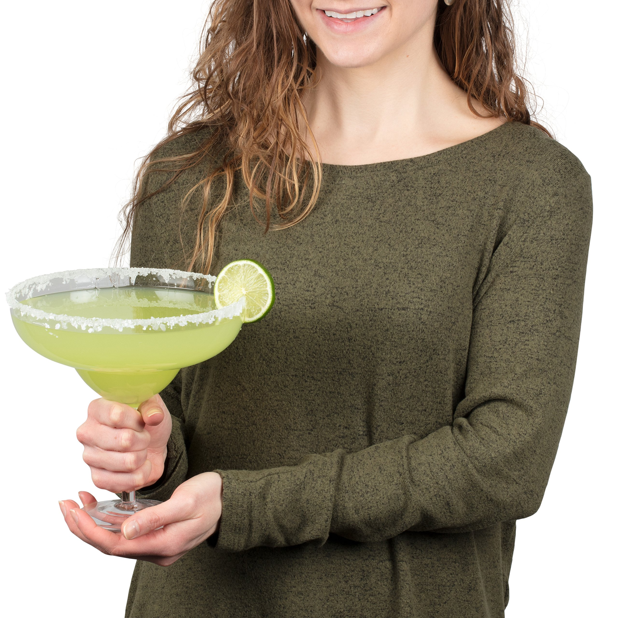 Extra Large Giant Cinco De Mayo Margarita Glass - 34oz - Fits about 3 typical margaritas! by Royal Lush (Image #1)