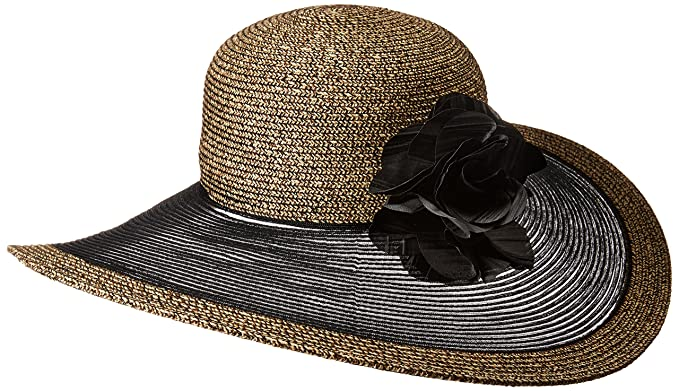 9791a4a6e5bc4f Nine West Women's Super Floppy HAT, Black, one Size at Amazon ...