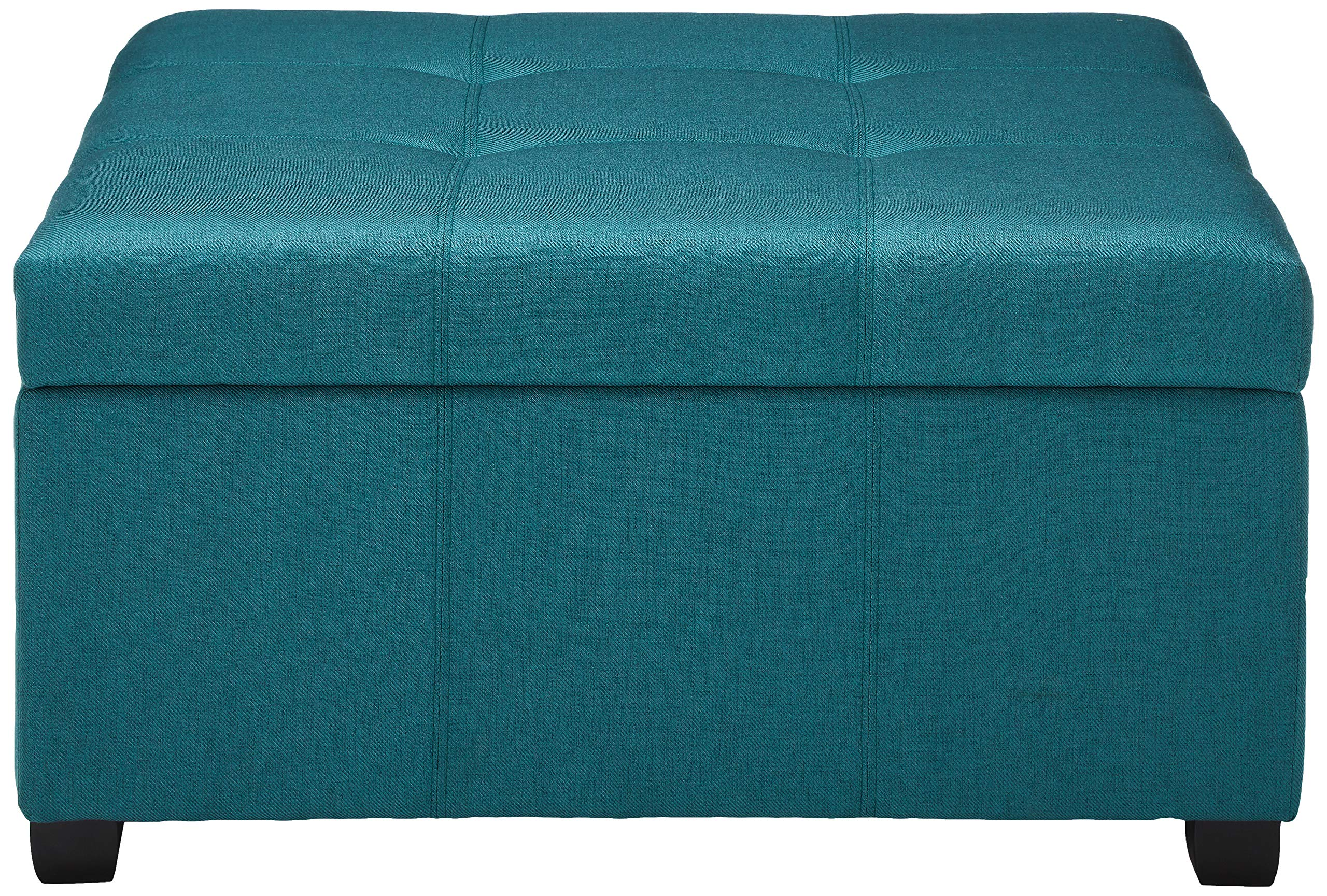 Christopher Knight Home 299736 Living Carlyle Dark Teal Fabric Storage Ottoman, 35. 00''D x 35. 00''W x 18. 50''H by Christopher Knight Home