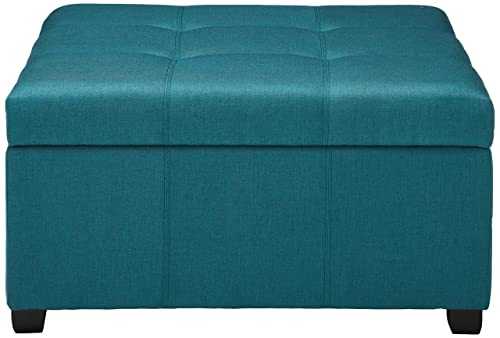 Christopher Knight Home Living Carlyle Dark Teal Fabric Storage Ottoman, 35. 00 D x 35. 00 W x 18. 50 H