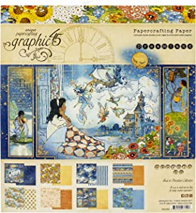 Graphic 45 GR4501930 Dreamland 8x8 Paper Pad, ys/m, Multi-Colour