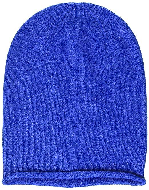 630477e353fd74 PIECES Damen PCROSE Oversize Cashmere Hood NOOS Strickmütze, Blau (Victoria  Blue), One