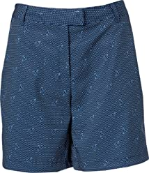 Lady Hagen Womens Bon Voyage Collection Nautical Sail Printed Golf Shorts (NAVY ESTATE, ...