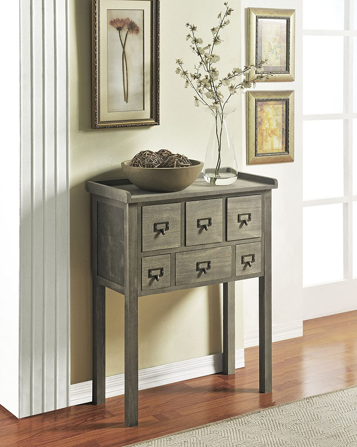 amazoncom altra furniture accent console table with 6 drawers kitchen dining amazoncom altra furniture ryder apothecary