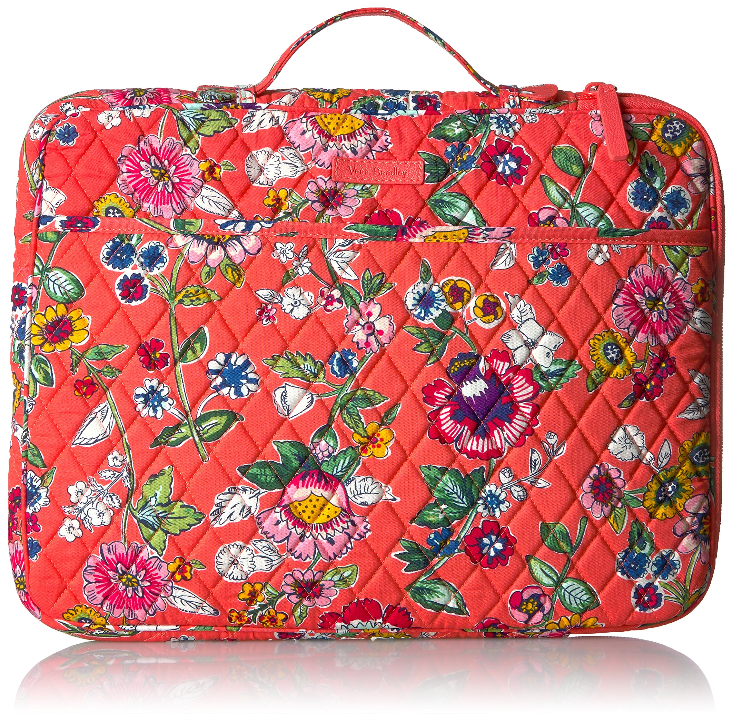Laptop Organizer - Signature Messenger Bag Bag, Coral Floral, One Size by Vera Bradley (Image #1)