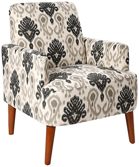 Super Homelegance Lapis Ikat Print Fabric Accent Chair Beige Pabps2019 Chair Design Images Pabps2019Com