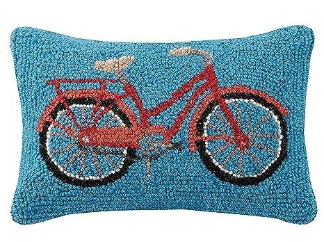 Amazon.com: Pekín Artesanía Rojo bicicleta gancho almohada ...