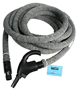Cen-Tec Systems 90177 Central Vacuum Direct Connect Electric Hose with Hose Sock and Applied Anti-Microbial Spray, 35'